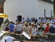 """Afra-Fest 2013 in Affenhausen – Lithographie """"Rehaugen"""" von Anton Christian"""