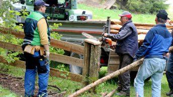 Marienbergalpe - Vor dem Viehauftrieb müssen die Winterschäden repariert werden, Foto: Knut Kuckel / #tirolbayern
