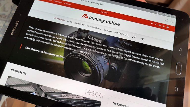 Mieming.online - runderneuert, Foto: Mieming.online