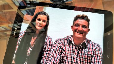 Theresa Wallnöfer und Elias Kapeller - das neue Führungs-Duo der Jungbauernschaft/Landjugend Mieming, Foto: Knut Kuckel