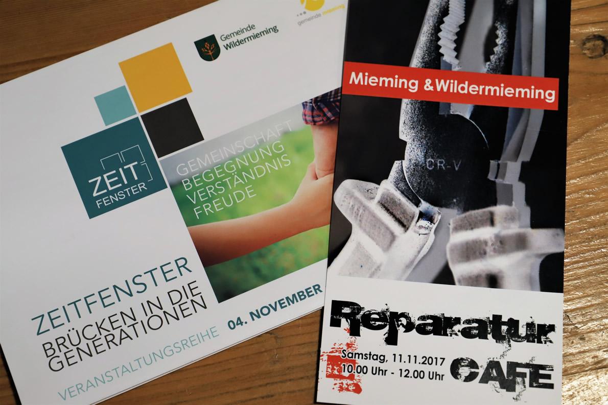 Zeitfenster 2017 - Reparatur Café im Gemeindesaal Wildermieming, Foto: Mieming.online