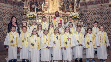Erstkommunion in der Pfarrkirche Untermieming am 15. April 2018. Foto: Elias Kapeller