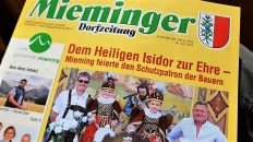 Mieminger Dorfzeitung, 26. Juli 2018. Foto: Mieming.online